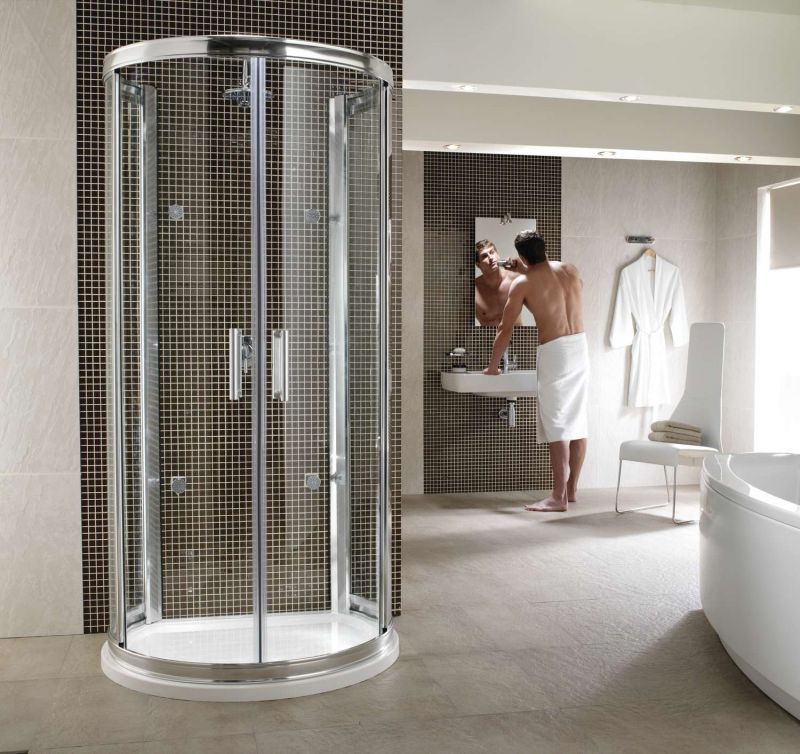 Magnificent D Shaped Shower Enclosure Frieze - Bathroom with Bathtub ...