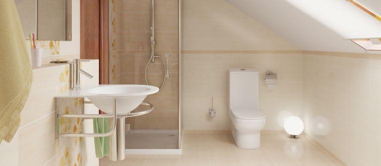 Full bathroom design and installation services. loft bathroom